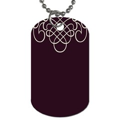 Black Cherry Scrolls Purple Dog Tag (Two Sides)