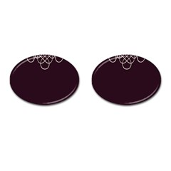 Black Cherry Scrolls Purple Cufflinks (Oval)