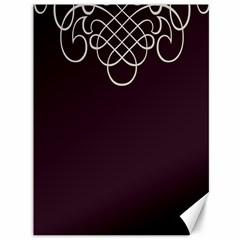 Black Cherry Scrolls Purple Canvas 36  x 48