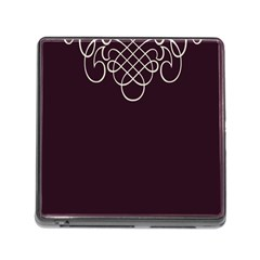Black Cherry Scrolls Purple Memory Card Reader (Square)