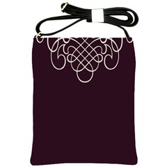 Black Cherry Scrolls Purple Shoulder Sling Bags
