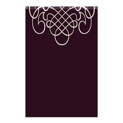 Black Cherry Scrolls Purple Shower Curtain 48  x 72  (Small)