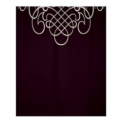 Black Cherry Scrolls Purple Shower Curtain 60  x 72  (Medium)
