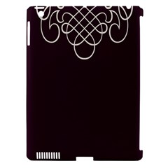 Black Cherry Scrolls Purple Apple iPad 3/4 Hardshell Case (Compatible with Smart Cover)