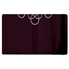 Black Cherry Scrolls Purple Apple iPad 2 Flip Case