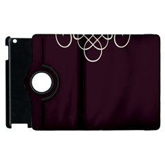Black Cherry Scrolls Purple Apple iPad 3/4 Flip 360 Case
