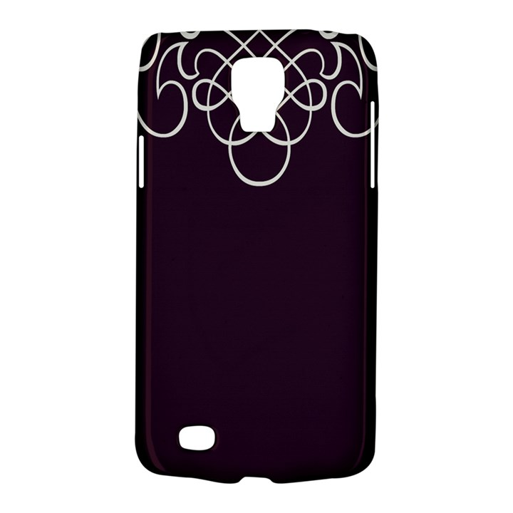 Black Cherry Scrolls Purple Galaxy S4 Active