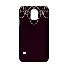 Black Cherry Scrolls Purple Samsung Galaxy S5 Hardshell Case