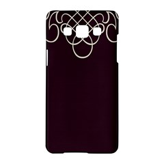 Black Cherry Scrolls Purple Samsung Galaxy A5 Hardshell Case