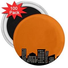 City Building Orange 3  Magnets (100 pack)