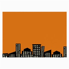 City Building Orange Large Glasses Cloth (2-Side)