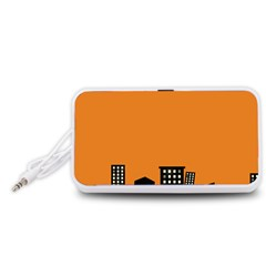 City Building Orange Portable Speaker (White)