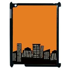 City Building Orange Apple iPad 2 Case (Black)