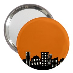 City Building Orange 3  Handbag Mirrors