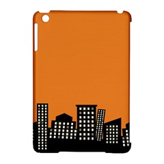 City Building Orange Apple iPad Mini Hardshell Case (Compatible with Smart Cover)
