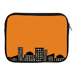 City Building Orange Apple iPad 2/3/4 Zipper Cases
