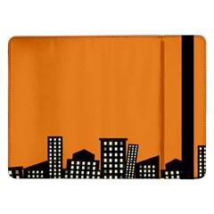 City Building Orange Samsung Galaxy Tab Pro 12.2  Flip Case