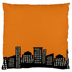City Building Orange Standard Flano Cushion Case (Two Sides)