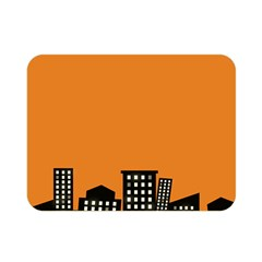 City Building Orange Double Sided Flano Blanket (Mini)