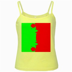 Critical Points Line Circle Red Green Yellow Spaghetti Tank