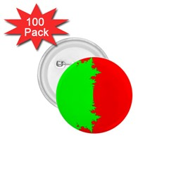 Critical Points Line Circle Red Green 1.75  Buttons (100 pack)