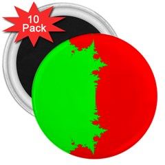 Critical Points Line Circle Red Green 3  Magnets (10 pack)