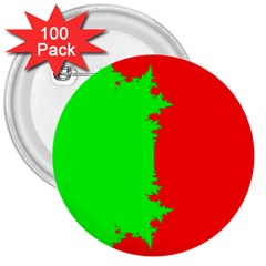 Critical Points Line Circle Red Green 3  Buttons (100 pack)