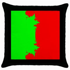 Critical Points Line Circle Red Green Throw Pillow Case (Black)