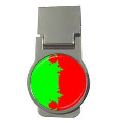 Critical Points Line Circle Red Green Money Clips (Round)