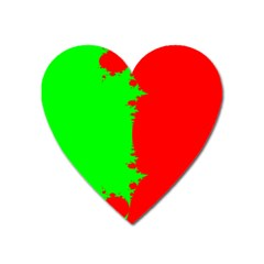 Critical Points Line Circle Red Green Heart Magnet