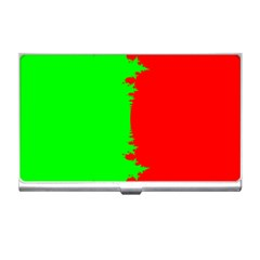 Critical Points Line Circle Red Green Business Card Holders