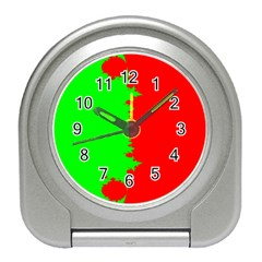 Critical Points Line Circle Red Green Travel Alarm Clocks