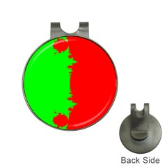 Critical Points Line Circle Red Green Hat Clips with Golf Markers