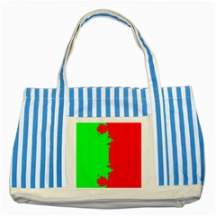 Critical Points Line Circle Red Green Striped Blue Tote Bag