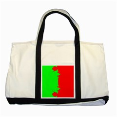 Critical Points Line Circle Red Green Two Tone Tote Bag