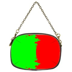 Critical Points Line Circle Red Green Chain Purses (Two Sides)