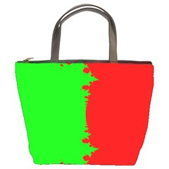 Critical Points Line Circle Red Green Bucket Bags