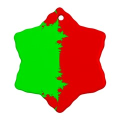 Critical Points Line Circle Red Green Ornament (Snowflake)