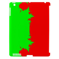 Critical Points Line Circle Red Green Apple iPad 3/4 Hardshell Case (Compatible with Smart Cover)