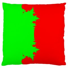 Critical Points Line Circle Red Green Large Cushion Case (One Side)