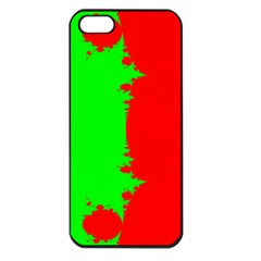 Critical Points Line Circle Red Green Apple iPhone 5 Seamless Case (Black)