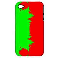 Critical Points Line Circle Red Green Apple iPhone 4/4S Hardshell Case (PC+Silicone)