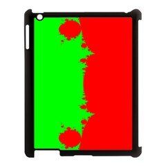 Critical Points Line Circle Red Green Apple iPad 3/4 Case (Black)