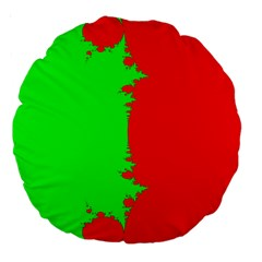 Critical Points Line Circle Red Green Large 18  Premium Round Cushions