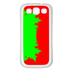 Critical Points Line Circle Red Green Samsung Galaxy S3 Back Case (White)