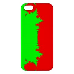 Critical Points Line Circle Red Green iPhone 5S/ SE Premium Hardshell Case