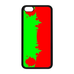 Critical Points Line Circle Red Green Apple iPhone 5C Seamless Case (Black)