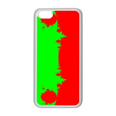 Critical Points Line Circle Red Green Apple iPhone 5C Seamless Case (White)