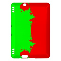 Critical Points Line Circle Red Green Kindle Fire Hdx Hardshell Case