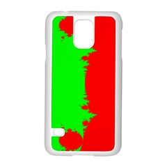 Critical Points Line Circle Red Green Samsung Galaxy S5 Case (White)